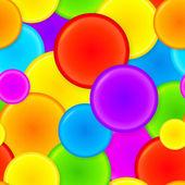 Plastikowe koła wibrujący tęcza wektor wzór — Wektor stockowy
