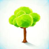 Soyut üçgenler vektör ağaç — Stok Vektör