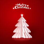 Origami kağıt vektör Noel ağacı — Stok Vektör