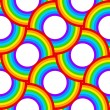 Rainbow vector circles seamless pattern — Stock Vector