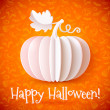 Bright Halloween white paper vector pumpkin — Imagen vectorial
