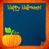 Bright Halloween orange paper vector pumpkin — 图库矢量图片