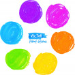 Rainbow colors marker stains vector set — Stok Vektör