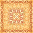 Vintage beige ornate vector square background — Stock Vector