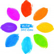 Rainbow colors vector marker stains flower — Stock Vector