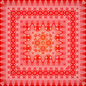Red ornate shawl vector pattern — Stok Vektör