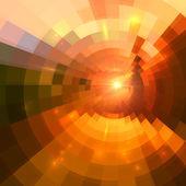 Streszczenie czerwone świecące koło tunel tło — Wektor stockowy