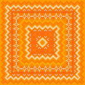 Orange knitted vector shawl pattern — Stock Vector