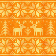 Orange knitted sweater with deer seamless pattern — Stock Photo #34730845