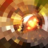 Abstracto rojo brillante fondo círculo túnel — Vector de stock