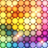 Colorful disco circles vector abstract background — Stock Vector