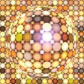 Shining golden vector disco ball — Stock Vector