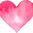 Watercolor painted pink heart — Stock Vector