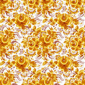 Golden floral vector seamless pattern — Stock Vector