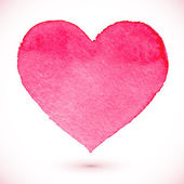 Watercolor painted pink heart — Vecteur
