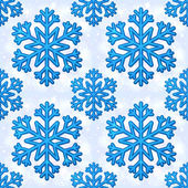 Blue vector snowflakes seamless pattern — Stock Vector
