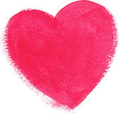 Pink acrylic color textured painted heart — Vettoriale Stock