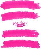 明亮的粉红色矢量标记污渍集 — 图库矢量图片