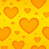 Cheese hearts vector seamless pattern — Stock Vector