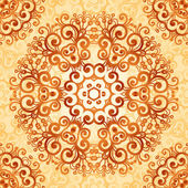 Ornate vintage seamless pattern in mehndi style — Stock Vector