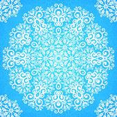Ornate vintage blue lacy seamless pattern — Stockvektor