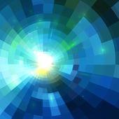 Abstract blue shining tunnel background — Stockvektor