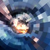 Abstracto azul brillante fondo círculo túnel — Stockvector