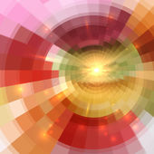 Abstract orange shining circle tunnel background — Stock Vector