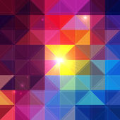 Bright vector colorful triangles background — Stock Vector