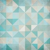 Fond vintage vector triangulaire bleu — Vecteur