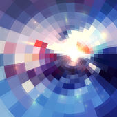 Abstract violet shining circle tunnel background — Stockvektor