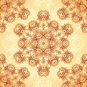 Ornate vintage seamless pattern in mehndi style — Stockvektor