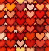 Red mottled hearts vector seamless pattern — 图库矢量图片