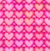 Valentines day pink hearts seamless pattern — Stock Vector