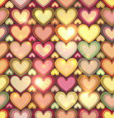 Vintage colors hearts vector seamless pattern — Stock Vector
