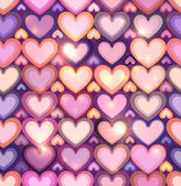 Light pink hearts shining seamless pattern — Vecteur