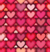 Red mottled hearts vector seamless pattern — Διανυσματικό Αρχείο