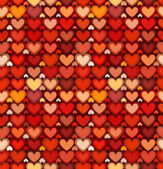 Red mottled hearts vector seamless pattern — Stock vektor