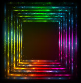 Shining lights rainbow colors vector frame — 图库矢量图片