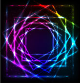 Shining lights rainbow colors vector frame — ストックベクタ