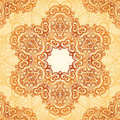 Sierlijke vintage naadloze patroon in mehndi stijl — Stockvector