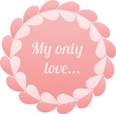 Pink realistic paper hearts circle vector frame — Vetorial Stock