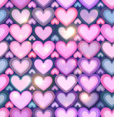 Light pink hearts shining seamless pattern — 图库矢量图片