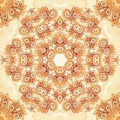 Ornate vintage seamless pattern in mehndi style — Stock Vector