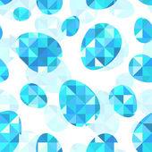 Blue diamond eggs vector seamless pattern — Stock Vector