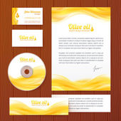 Realistic oil vector business style template — Stock Vector