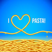I love pasta vector background — Stock Vector