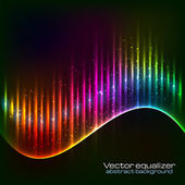 Neon vector equalizer wave — Stock Vector