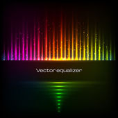 Rainbow colors vector equalizer — Stock Vector