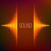 Korektor graficzny stereo wektor neon pomarańczowy — Wektor stockowy